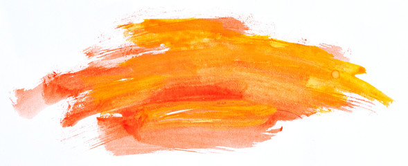 Watercolour paint strokes