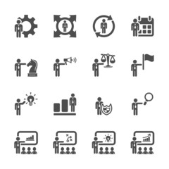 human resource management icon set 3, vector eps10