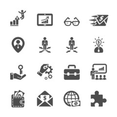 human resource management icon set 4, vector eps10