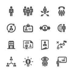 human resource management icon set 2, vector eps10