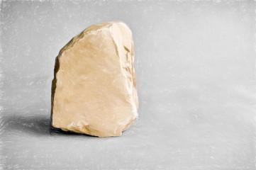 blank stone  - illustration based on own photo image