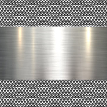 Background, polished metal texture