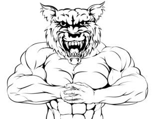 Tough wolf mascot