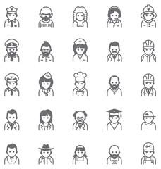 Vector people icon set