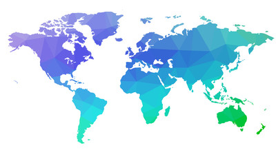 Map of the world in triangles. Raster 2