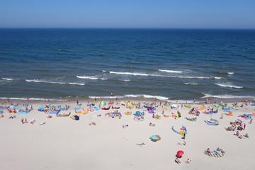 Sandstrand an der Ostsee,  Urlaub am Strand