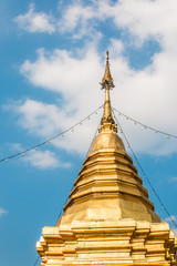 Pagoda at wat phrathat doi kham