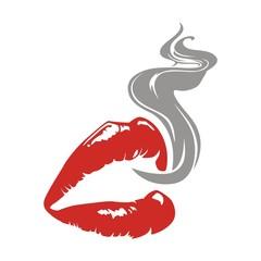 lips and smoke