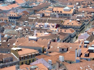 Rooftop of Lisbon in Portugal