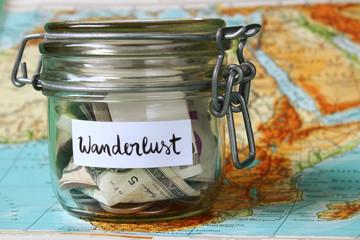 Wanderlust travel jar - vacation savings