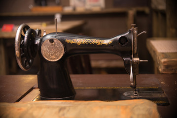 Retro sewing machine, old style