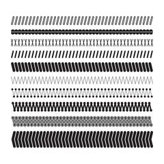 Simple zigzag underlines. A set of geometric decorative elements