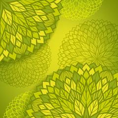 Round floral pattern.