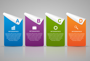 Abstract 3D business options infographics template.