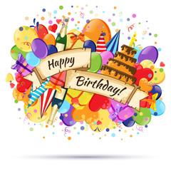 Festive Celebration Happy Birthday background.