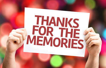 Thanks for the Memories card with colorful background