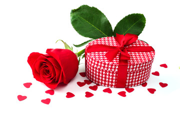 Rose and gift
