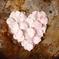heart from flower petals