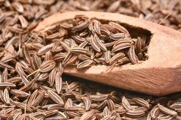 Wall Mural - Closeup of caraway-seeds