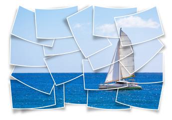 voilier catamaran de promenade en mer