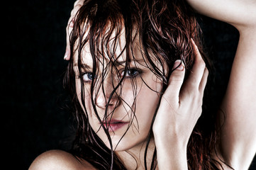 Fresh and wet young woman