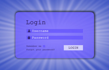 Login interface - username and password
