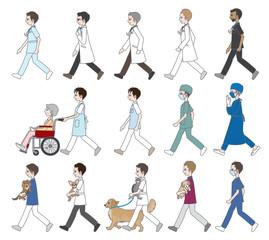 歩いている人々 / 医者&看護師