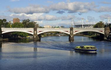Princes Bridge in centrum Melbourne