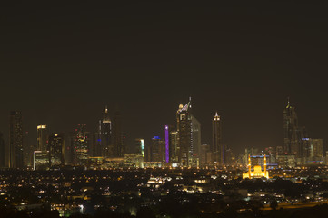 Night view of the big city