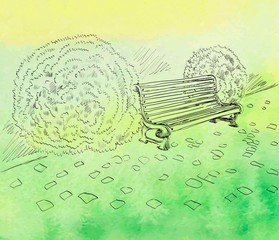 Sketch the bench