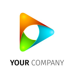 abstract vector logo play