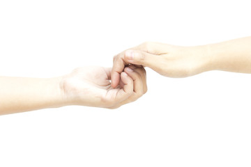 Hand hold all finger smoothly