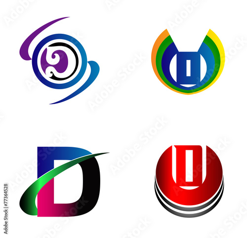 Letter d logo design sample icon set stock image and royalty free letter d logo design sample icon set spiritdancerdesigns Gallery