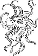 Kraken mythical sea monster