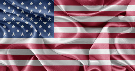 woven shiny American flag background