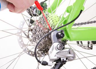 bicycle repair bicycle , derailleur adjustment