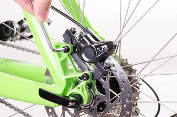 bicycle repair, Set the brake