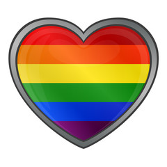 Heart in Rainbow Colors Gay Lesbian