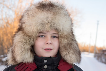 Boy in the winter hat