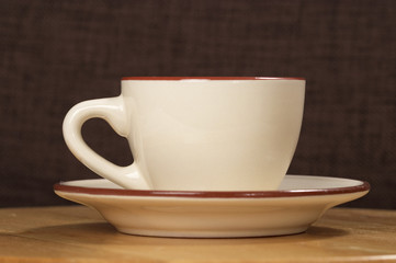 Beige coffee cup