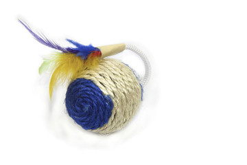 round  toy for animals with feathers