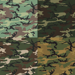 Set of camouflage background vector, Camouflage background