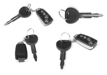 collection of keys with car alarm