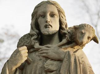Jesus Christ - the Good Shepherd (art composition)