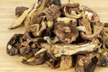 Wild and dried mushrooms