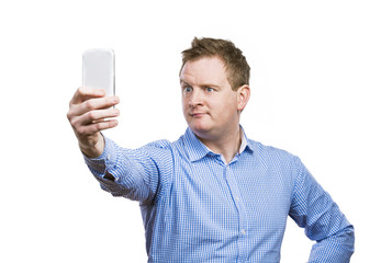 Man taking selfie of himself