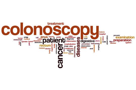 Colonoscopy word cloud