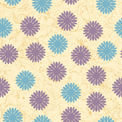 Texture with floral elements