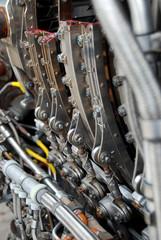 Aicraft engine dismantled