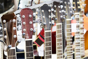 Details of electric modern guitar.